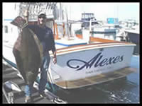 Halibut off Alexes Sportfishing 6-Pack San Diego