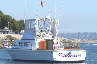 San diego fishing charters alexes 6 pack sportfishing for Deep sea fishing san diego