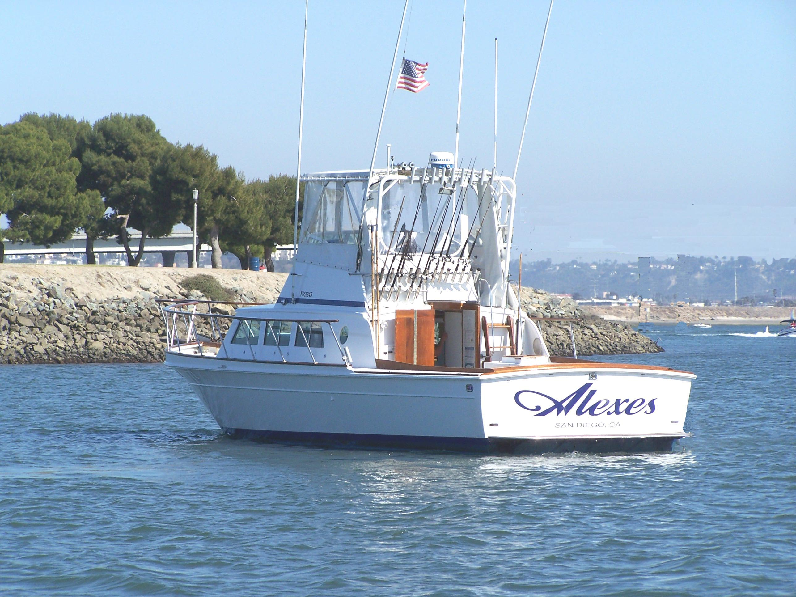 3 pack 4 pack 6 pack and larger fishing charters in san for Fishing trips in california