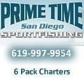 Prime Time Sportfishing - 6 pack docked at Cortez Marina San Diego